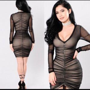 2/$30 Fashion Nova ruched bodycon dress
